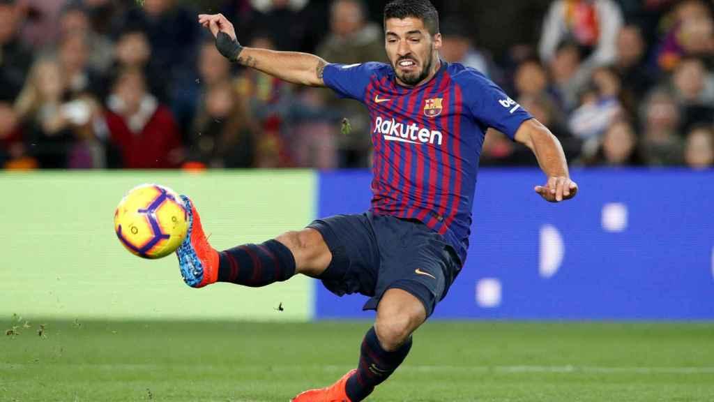 Luis Suárez, en el Barcelona-Eibar.