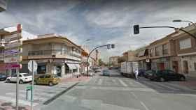 Calle mayor de la pedanía murciana de Sangonera la Verde.