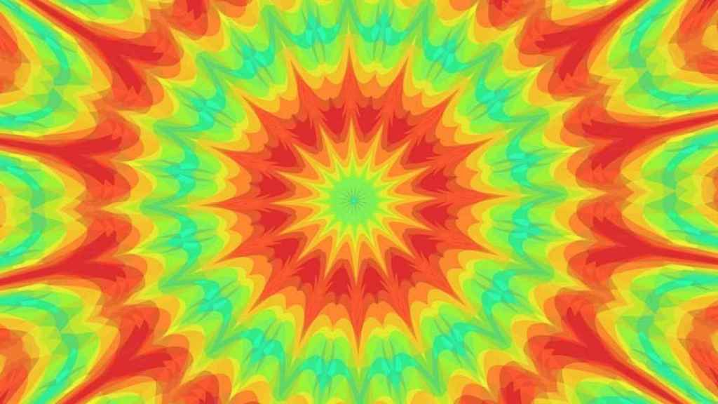 Ilusión óptica del caleidoscopio