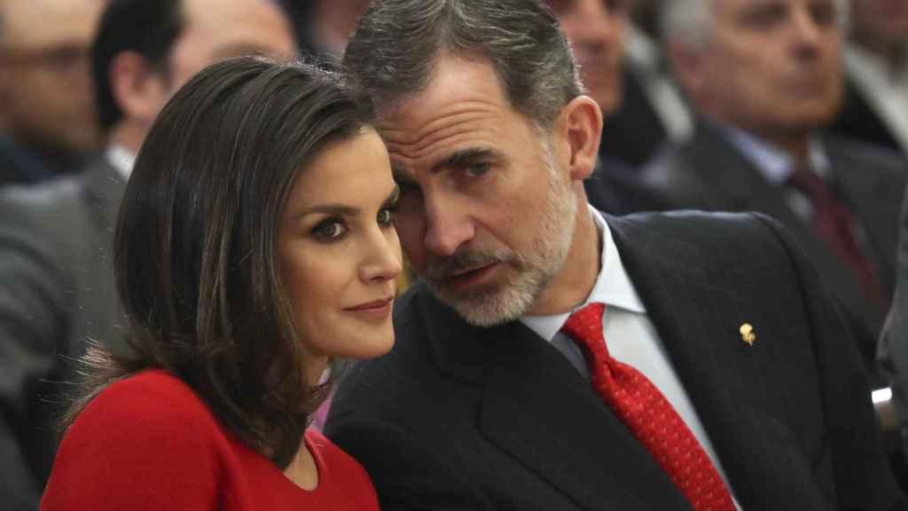 Los reyes de España en su último acto público en Madrid.