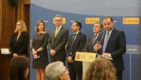El ministro de Fomento, José Luis Ábalos, durante la presentación de los PGE.