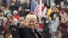 Trump durante su investidura.