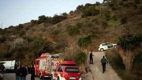 Los equipos de rescate en el lugar.