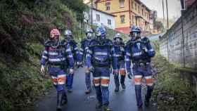 Seis miembros de la Brigada de Salvamento Minero de Asturias