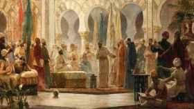 'La Corte de Abderramán III', pintura del siglo XIX por Dionisio Baixeras Verdaguer