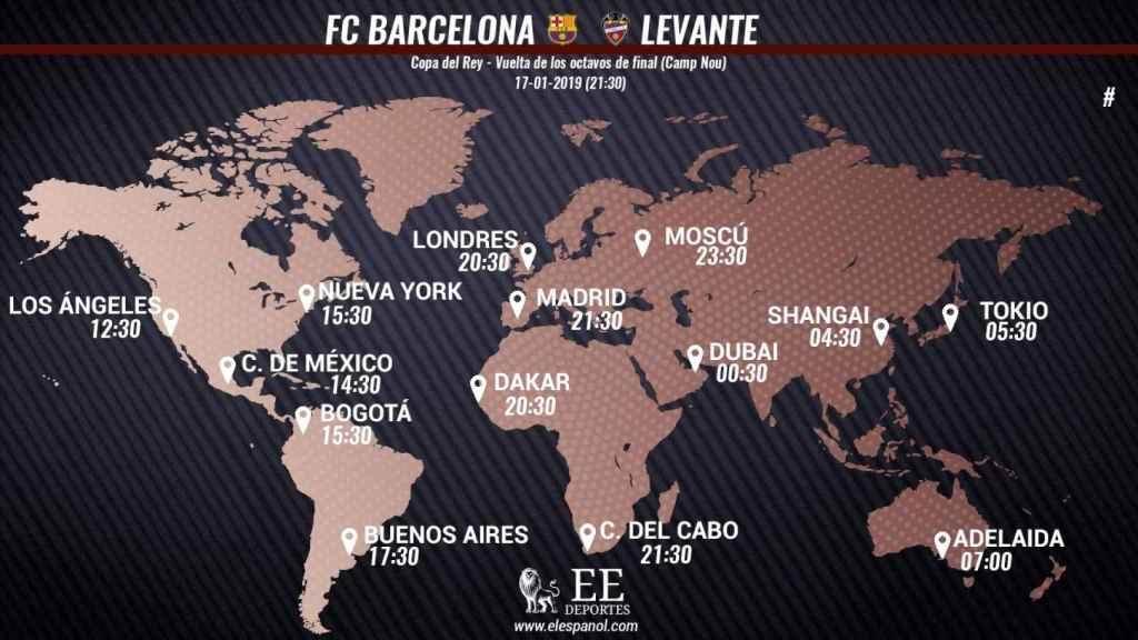 Horario Barcelona - Levante