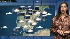 Una imagen del vídeo con la predicción del tiempo.