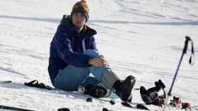 Juan Valentín esquiando.