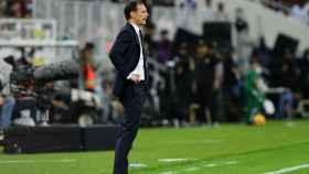 Allegri, en el encuentro de la Supercopa de Italia