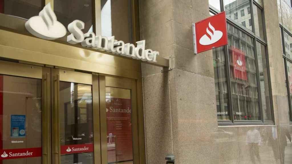 Una oficina del Banco Santander (archivo).