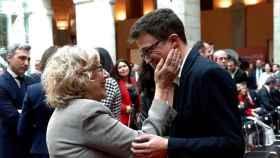 La exalcaldesa de Madrid Manuela Carmena y el diputado de la Asamblea de Madrid Íñigo Errejón.