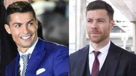 Cristiano Ronaldo y Xabi Alonso.