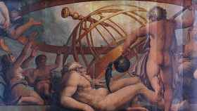 La castración de Urano, Fresco de Giorgio Vasari y Cristofano Gherardi. Sala di Cosimo I, del Palazzo Vecchio (Florencia).