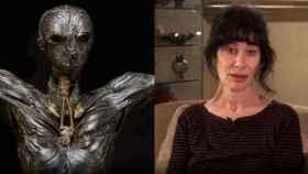 La estatua 'Adán' de la escultora Gillian Genser, en la BBC.