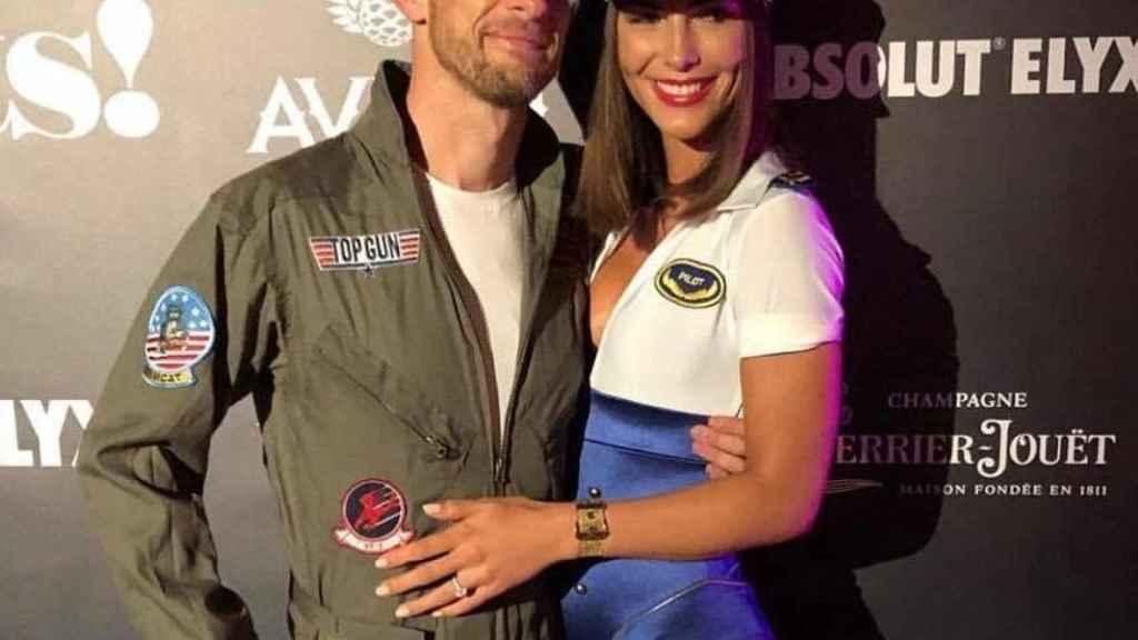 Jenson Button y Brittny Ward.