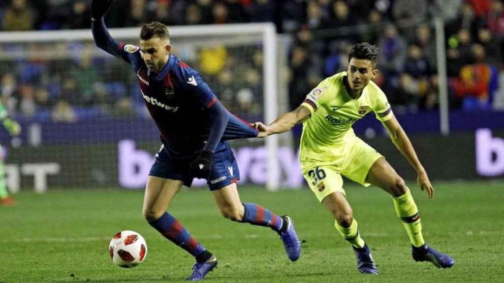 Chumi, durante el partido de ida contra el Levante