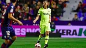 Chumi, durante el Levante - FC Barcelona. Foto: Instagram (@movijuan)