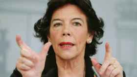 Isabel Celaá, portavoz del Gobierno, este viernes en Moncloa.