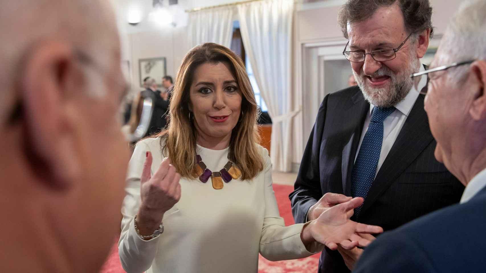 Rajoy y Soraya, en la toma de posesión de Moreno Bonillo