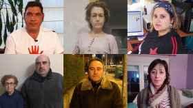 De izquierda a derecha, de arriba a abajo: Leonardo Muñoz (Andalucía); María Pilar Herrero (Cataluña); Adriana Alonso (Asturias); Maria Ángeles y Juan Francisco Rebate (Extremadura); Manuel Herrero (Castilla y León) y Begoña Alcón (Aragón)