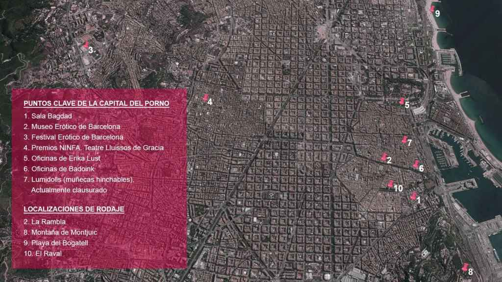 Este es el mapa con la principales localizaciones de la industria en la ciudad