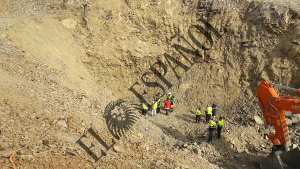 Tareas de excavación para rescatar a Julen.