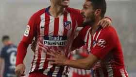Lucas Hernández celebra su gol en el Huesca - Atlético