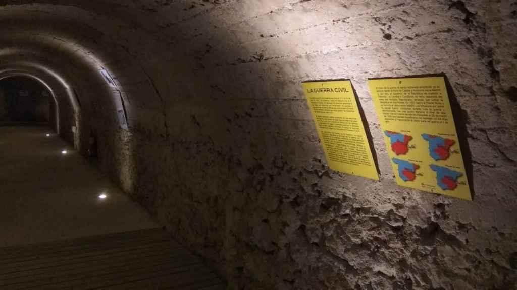 El refugio de Calderón de la Barca convertido en un centro de interpretación sobre la Guerra Civil.