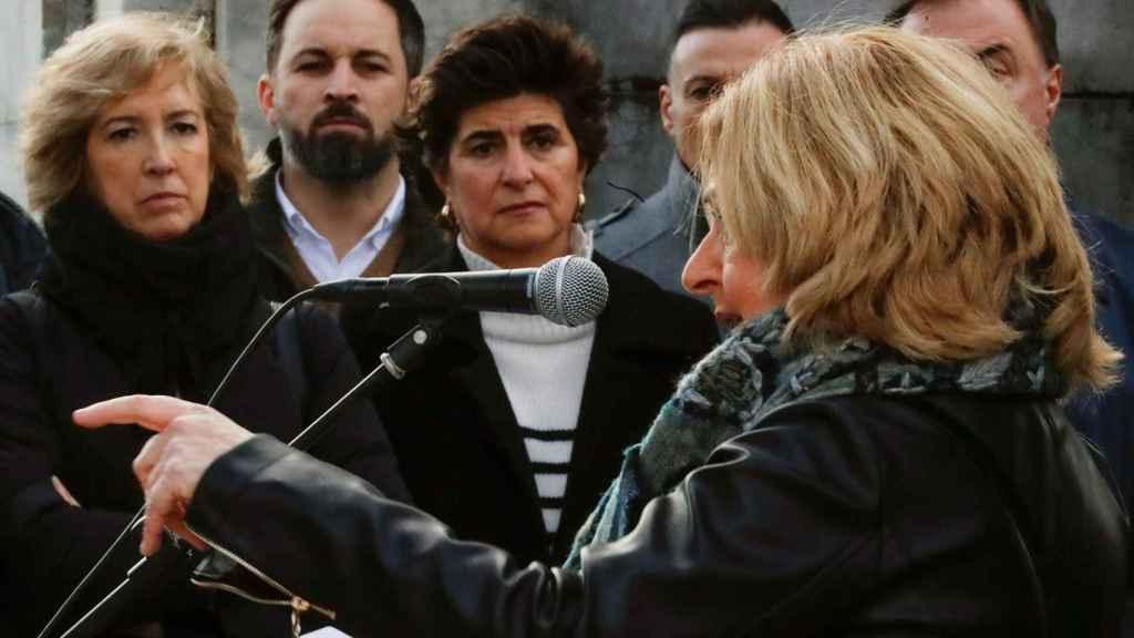 Santiago Abascal junto a María San Gil en el acto de víctimas de ETA