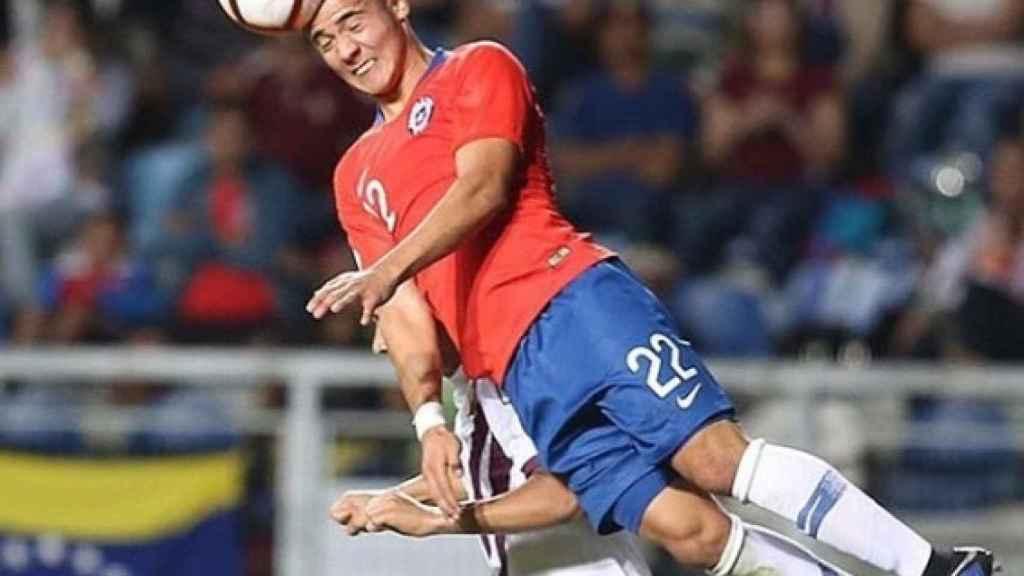 Nicolás Díaz, durante un momento del partido. Instagramn: (@nicodiaz.h)
