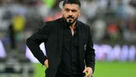 Genaro Gattuso, durante un partido como entrenador