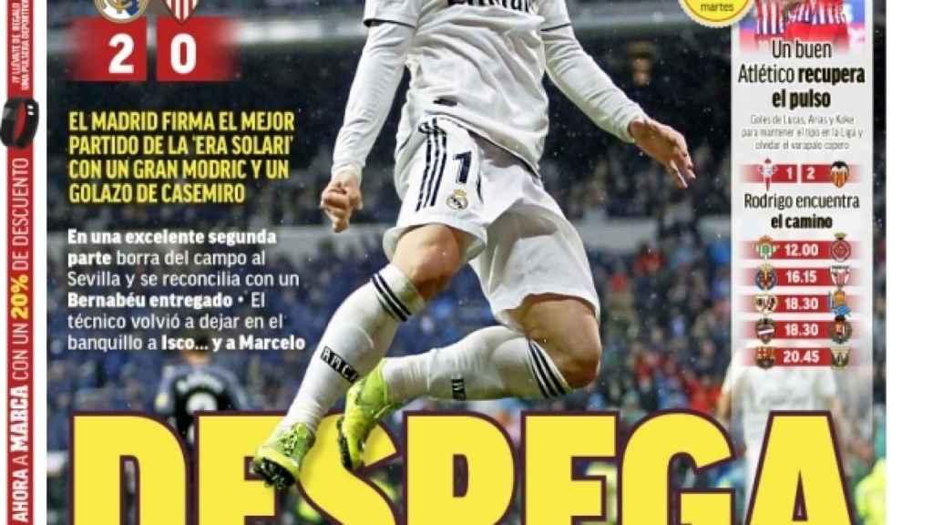 La portada del diario MARCA (20/01/2019)