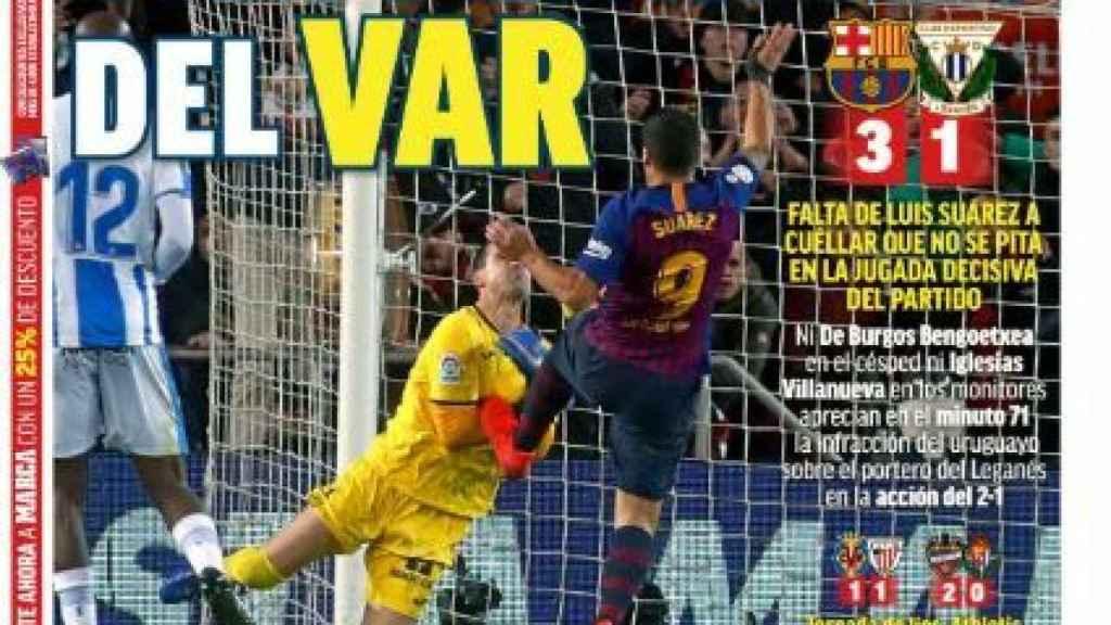 La portada del diario MARCA (21/01/2019)