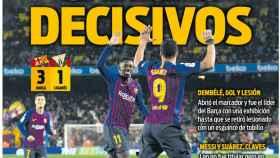 La portada del diario Sport (21/01/2019)