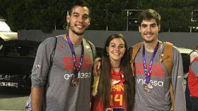 Willy, Andrea y Juancho Hernangómez