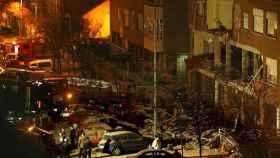 Estado en el que quedó el piso de Leganés en el que se produjo la deflagración.