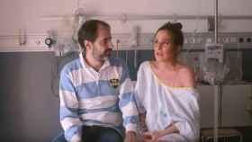 Verdeliss y su marido, en el hospital.