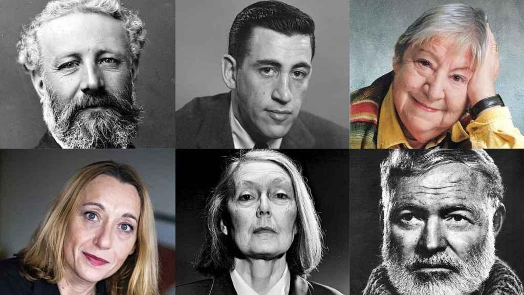 Julio Verne, Salinger, Gloria Fuertes, Despentes, Anne Carson y Hemingway.