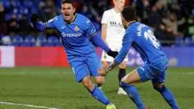Jorge Molina pone en ventaja al Getafe tras su gol ante el Valencia