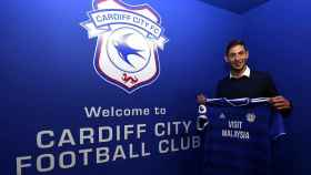 Emiliano Sala, nuevo jugador del Cardiff. Foto: Twitter (@EmilianoSala1)