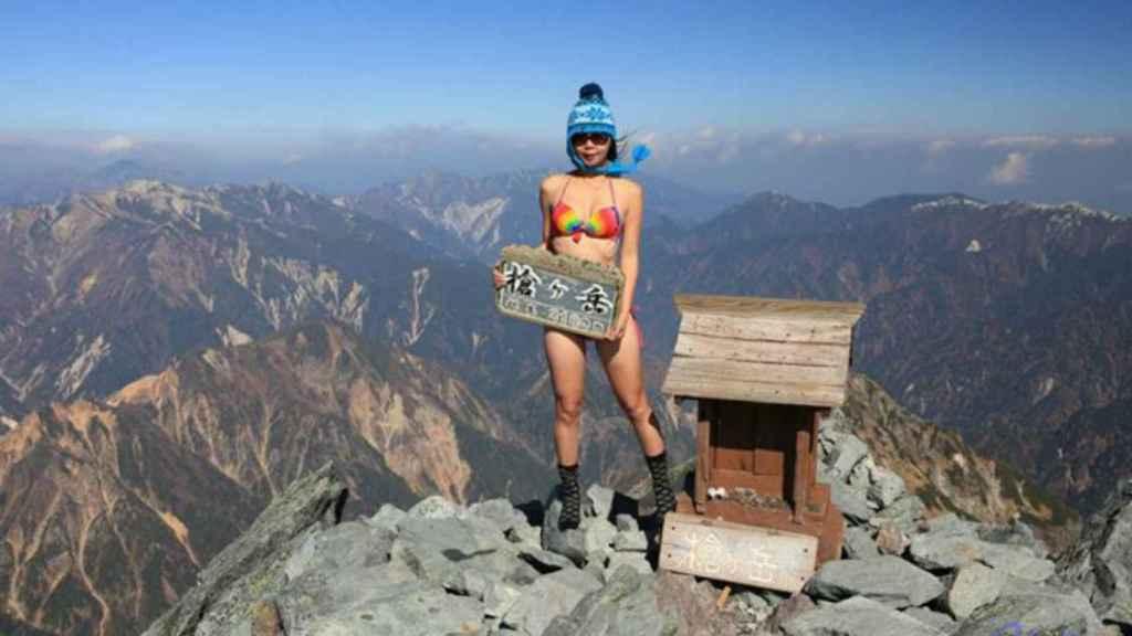 Muere congelada Gigi Wu, la 'escaladora en bikini'. Foto: Facebook Gigi Wu