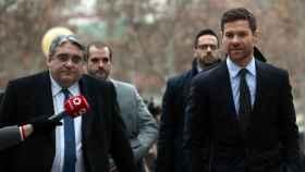 Xabi Alonso a su llegada a la Audiencia Provincial, en una imagen de archivo.