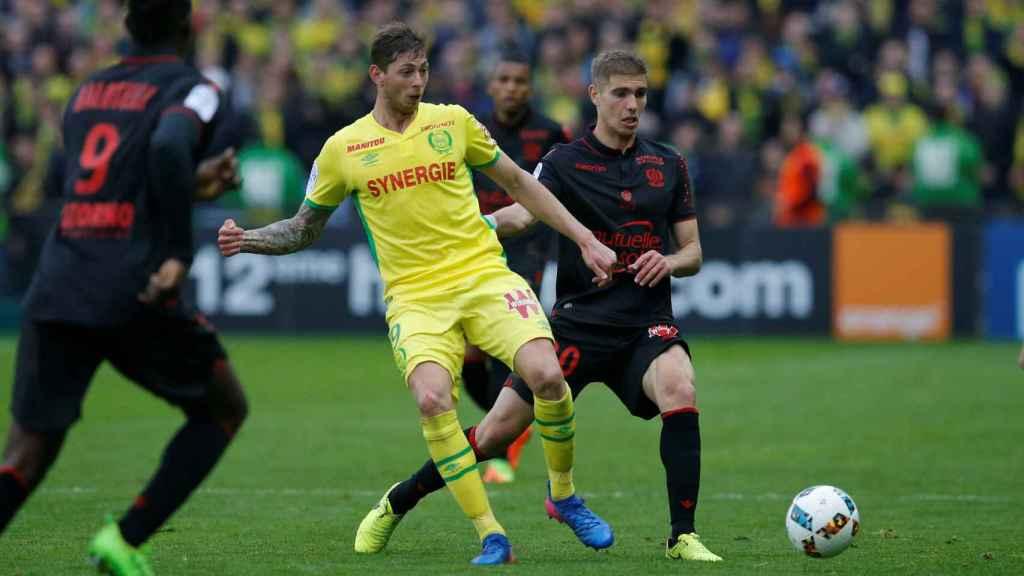 Emiliano Sala, en un partido con el Nantes