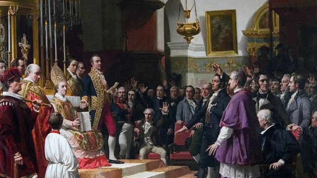 El juramento de las Cortes de Cádiz en 1810, por José Casado del Alisal.