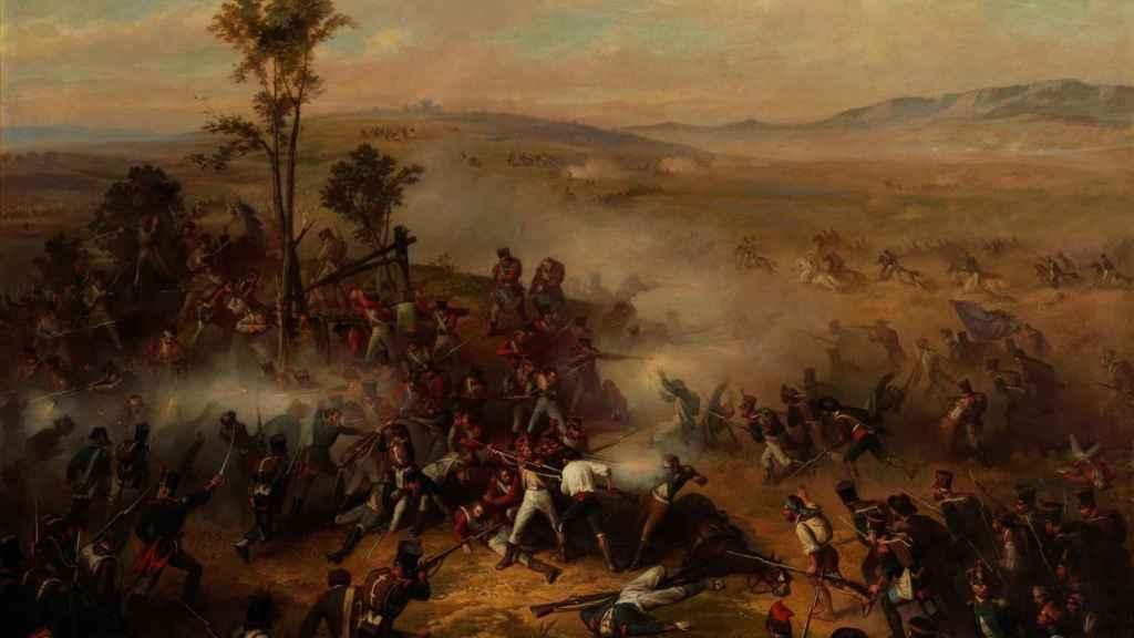 Episodio de la batalla de Bailén. Un cuadro de Ricardo Balaca y Orejas