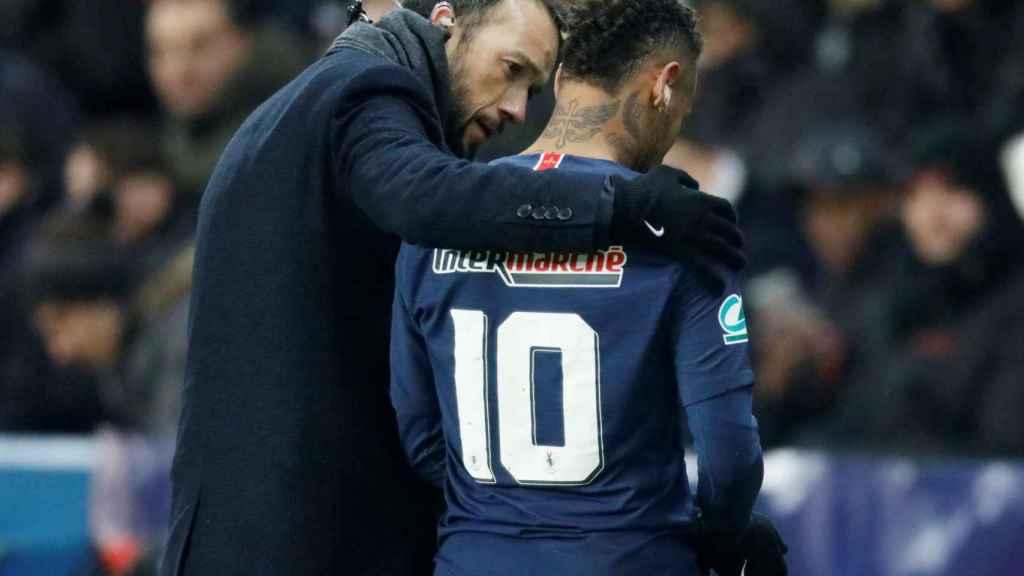 Neymar, lesionado en el PSG - Estrasburgo