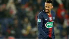 Neymar, durante un partido del PSG
