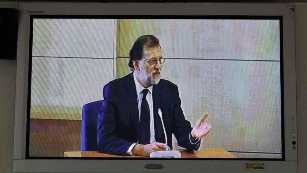 Mariano Rajoy, durante su comparecencia en el juicio del caso Gürtel.