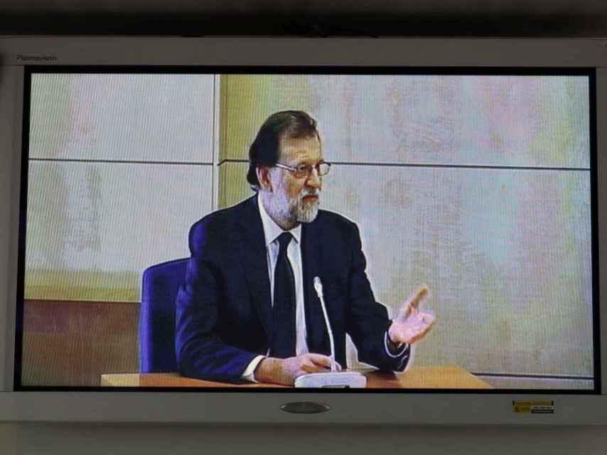 Mariano Rajoy, durante su comparecencia en el juicio del caso Gürtel./