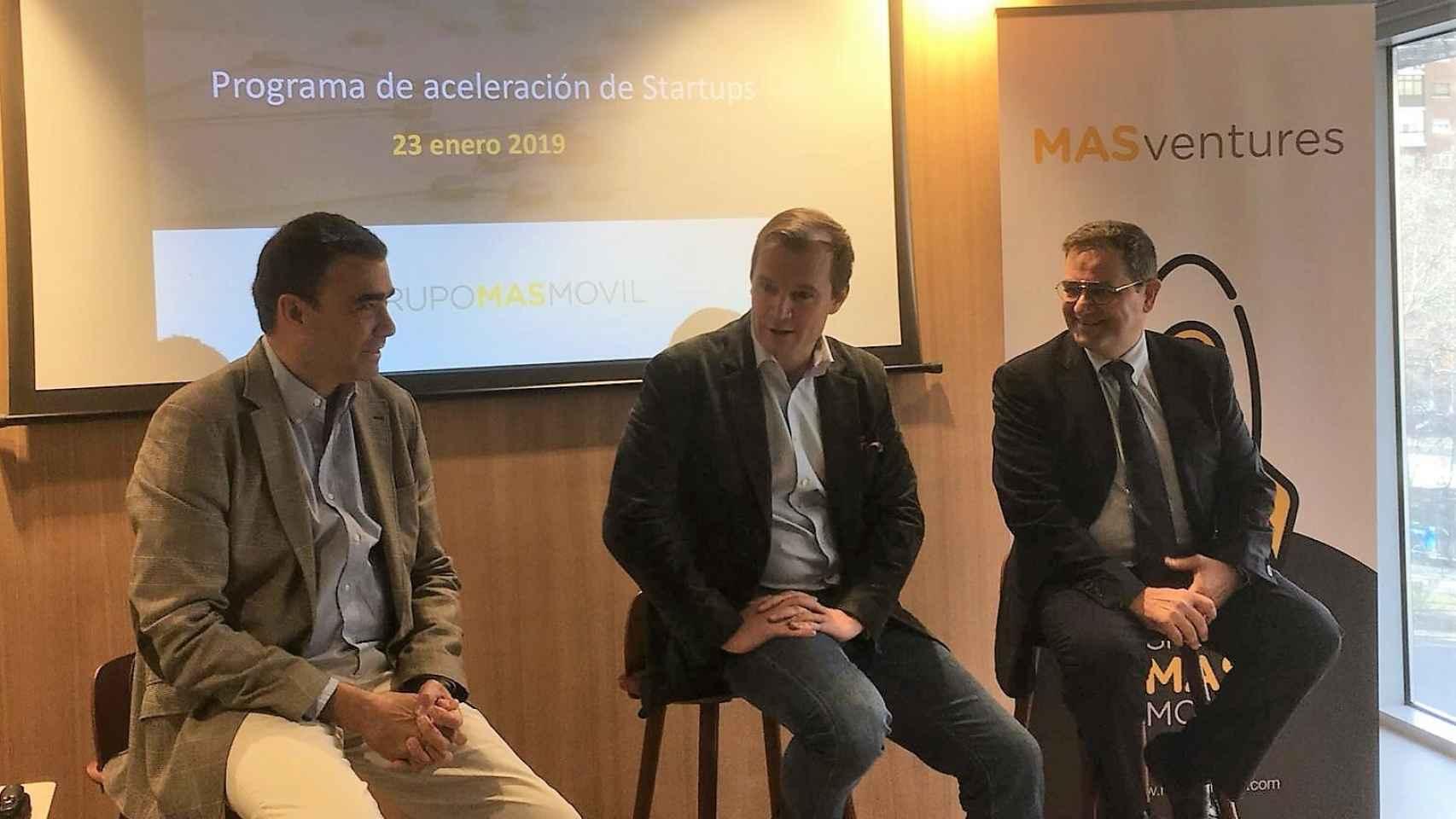 Meinrad Spenger, CEO de MásMóvil, durante la presentación de Masventures.